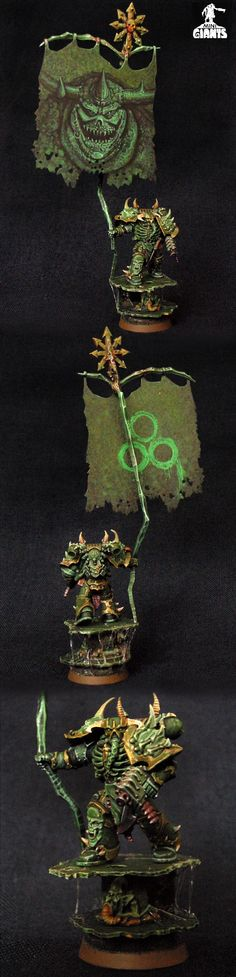 Chaos Space Marine Death Guard with Battle Standard Bearer
