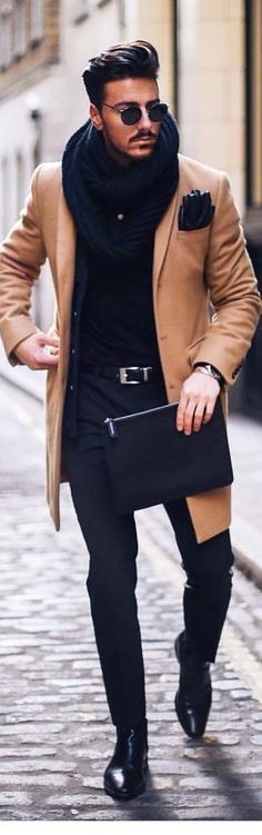 40 Trends and Styles of Men's Winter Fashion - Mode - # Fashion Mode, Fashion 2017, New Fashion, Trendy Fashion, Fashion Trends, Fashion Clothes, Fashion Ideas, Trendy Style, Swag Fashion