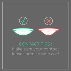 YOU PROBABLY KNOW how it feels when you put your contact lens in inside out. Make sure you check the shape before you put them in!
