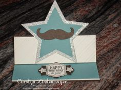 Carolyn's Card Creations: A special Star Easel Card for Justin