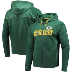 Green Bay Packers Men s Majestic Game Elite Synthetic Full-Zip Hoodie eb8233141