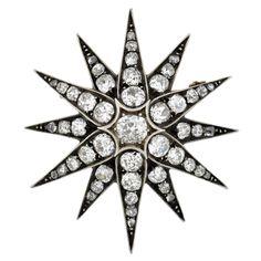 Victorian Diamond Starburst Pin/Pendant 4.90ctw