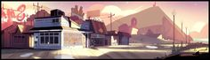 "A selection of backgrounds from the Steven Universe episode: ""Laser Light Cannon""  Direction: Kevin Dart  Design: Steven Sugar, Patrick Leger  Paint: Elle Michalka, Amanda Winterstein"