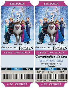 Invitaciones de cumpleaños Frozen | Base Echo