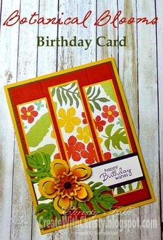 Stampin' Up! Botanical Blooms and Botanical Builder Framelits Bundle Birthday Card - Create With Christy - Stampin' Up! Birthday Cards For Women, Happy Birthday Cards, Pinterest Crafts, Stamping Up Cards, Pretty Cards, Card Sketches, Paper Cards, Creative Cards, Cool Cards