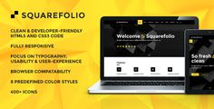 Download Free              Squarefolio Multipurpose HTML Template            #               agency #animations #blog #clean #company #creative #easy #friendly #multipurpose #portfolio #projects #semantic #works