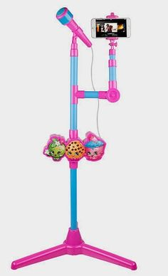 """Shopkins Molded Microphone Stand with Lights and Selfie Stick - Toys """"R"""" Us http://fave.co/2d4vOzf"""
