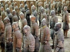 Terracotta Army China  http://placesuwant2visit.blogspot.com/