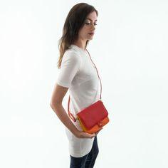 8439d8eddb5f Petit sac à main pour femme en cuir multicolore à bandoulière