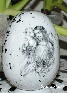 Jezus jajko z grafiką