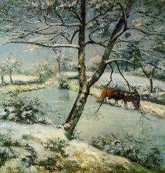 Winter at Montfoucault, 1875 Camille Pissarro