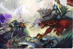 Well of Eternity: Artworks from Warhammer Age of Sigmar III Fantasy Battle, Fantasy Rpg, Fantasy World, Warhammer Art, Warhammer Fantasy, Fantasy Concept Art, Fantasy Artwork, Lizardmen Warhammer, Age Of Sigmar