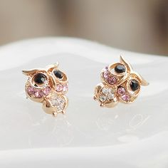 Lovely romantic owl earrings wholesale high quality Korean earrings ,shop at Costwe.com