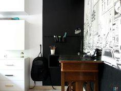 Pokój nastolatka - Organizer z puszek nad biurko DIY Vanity, Diy, Dressing Tables, Powder Room, Bricolage, Vanity Set, Do It Yourself, Single Vanities, Vanities