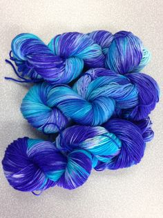 Twinkleberry  Sock Yarn 2 ply merino. University Drive base.  More purple than the picture shows. March 2014.