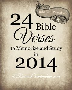 24 Bible Verses to Memorize and Study in 2014