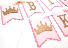 Pink and Gold Glitter Princess Themed Happy by ScrapsToRemember