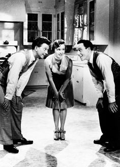 Donald O'Connor, Debbie Reynolds, and Gene Kelly in Singing In The Rain (1952)