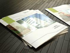 Dépliant 3 volets, brochure immobilière, présentation et mise en avant du nouveau parc immobilier.