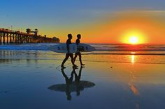 Two Surfers on the beach in Oceanside ~ as perfect a day as you can imagine!!