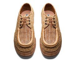 // Acne raffia shoes