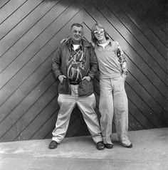 """""""Fish Man"""" David Merl Reed (at left) standing with a friend in the Ballard neighborhood of Seattle, Washington, May 11, 1978 :: Modern Photo..."""