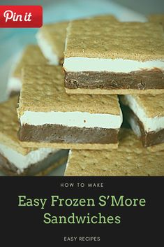 Easy Frozen S'More Sandwiches - party food sandwiches, fall sandwich recipes, tomatoe sandwiches, sub sandwiches party, roast sandwi - Salami Sandwich, Hummus Sandwich, Croissant Sandwich, Grill Sandwich, Gourmet Sandwiches, Reuben Sandwich, Party Sandwiches, Bagels Sandwich, Mozzarella Sandwich