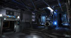 Cyberpunk Atmosphere, Future, Sci-Fi, Futuristic Interior, Dead Space concept art by Joseph Cross Spaceship Interior, Futuristic Interior, Futuristic City, Alien Spaceship, Sci Fi Environment, Alien Concept Art, Dead Space, Thing 1, Environmental Design
