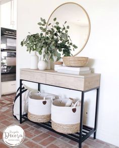 Our console table is in stock and off today using code FREEDOM (linked in bio).🎊 Did a little summer styling around the house this… 41 Entry Table Ideas to Liven up Your House in Details RH console table Decoration Hall, Entryway Decor, Entryway Ideas, Modern Entryway, Hallway Table Decor, Entryway Console Table, Entrance Ideas, House Entrance, Console Table Living Room