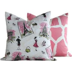 paris themed bedrooms | paris themed throw pillow