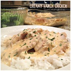 Creamy Ranch Chicken--baked or in the crock pot. Either way is fabulous! @SLBblog