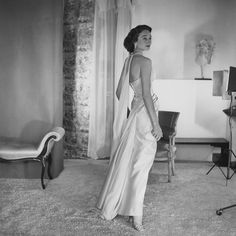 WHO: Jacqueline, Comtesse de Ribes FAMOUS FOR: Her sculpted profile and her successful foray into fashion design. - Photographed by Horst P. Horst, Vogue, August 1, 1953