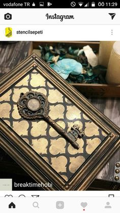 Wood Crafts, Gold Jewelry, Decoupage, Decorative Boxes, Scrapbooking, Clock, Shoulder Bag, Canvas, Key Fobs