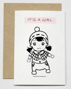 Its a girl card by CherryOnTopDsgns on Etsy