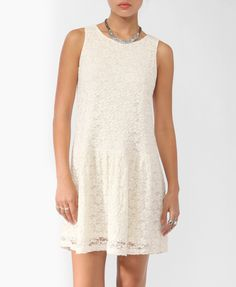 Dropped Waist Lace Dress from Forever 21