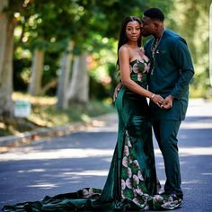 """Today we bring to you """"Cool African Prints for Newly Wedded Couples."""" African prints are always cool and interesting. They look much more better in these prints for newly wedded couples. Check them out and enjoy your day. African Male Suits, African Attire, African Women, Couples Assortis, Black Couples, Kente Dress, African Maxi Dresses, Matching Couple Outfits, Matching Couples"""