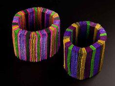 Bracelets  by Ana Hagopian. She works in paper!
