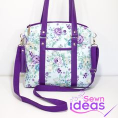Sewing Bags The Sweetie Shoulder Bag - Sew and Sell ePattern - The Sweetie Shoulder Bag PDF Sewing Pattern Handbag Patterns, Bag Patterns To Sew, Sewing Patterns, Quilting Patterns, Diaper Bag Patterns, Patchwork Patterns, Tote Pattern, Tote Purse, Hobo Bag