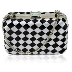 Designer Clothes, Shoes & Bags for Women Black Clutch Bags, Satin, Houndstooth, Louis Vuitton Damier, Monochrome, Coin Purse, Black And White, White Box, Shoulder Bag