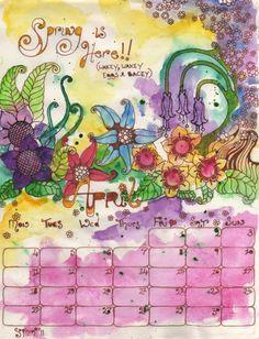 Showcase: April Calendar Draw - Doodlers Anonymous