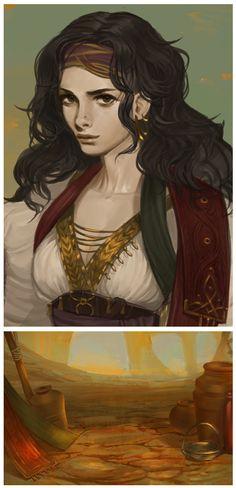 Merchant Girl by AnnieJang.deviantart.com on @DeviantArt