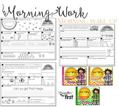 Morning Work for kindergarten, 1st grade and 2nd grade. ALL YEAR - Builds in complexity. Engaging and enriching!