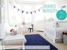 Habitaciones compartidas por bebé y hermano: cómo decorar una habitación compartida por dos hermanos de edades diferentes, uno de ellos un bebé.