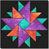 Double Aster block from Quilter's Cache - my favorite place for free quilt block patterns