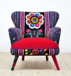 Hey, I found this really awesome Etsy listing at https://www.etsy.com/listing/474465789/suzani-armchair-summer