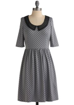 Demure So Sweet Dress. This modest dress was made to be flaunted! #grey #modcloth
