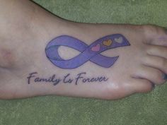 cancer ribbon tattoo. I want lime green ribbon with saying at bottom.