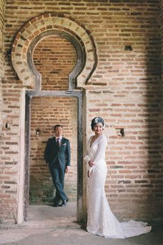 Understated vintage glam pre-wedding shoot // A Love Across Time: Arthur and Andrea's Engagement Shoot in Ipoh