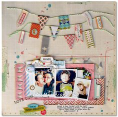 Cocoa Daisy Scrapbooking Blog - Froth From the Daisy Patch-love how Kim Watson used baker's twine to use these little flyers stickers-I have so many of these that I haven't used yet.