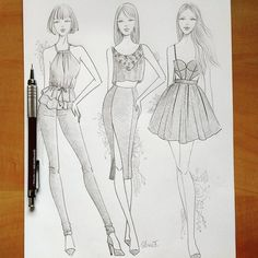 Fashion sketches vogue drawings 35 Ideas for 2019 Dress Design Drawing, Dress Design Sketches, Fashion Design Drawings, Fashion Sketches, Fashion Design Illustrations, Fashion Figure Drawing, Fashion Drawing Dresses, Fashion Illustration Dresses, Fashion Sketchbook